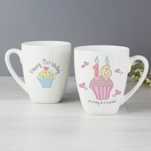 Cupcake Design 16th Birthday Latte Mug Gift Keepsake